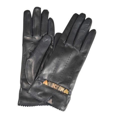 Moschino Moschino leather gloves - MONNIER Frères