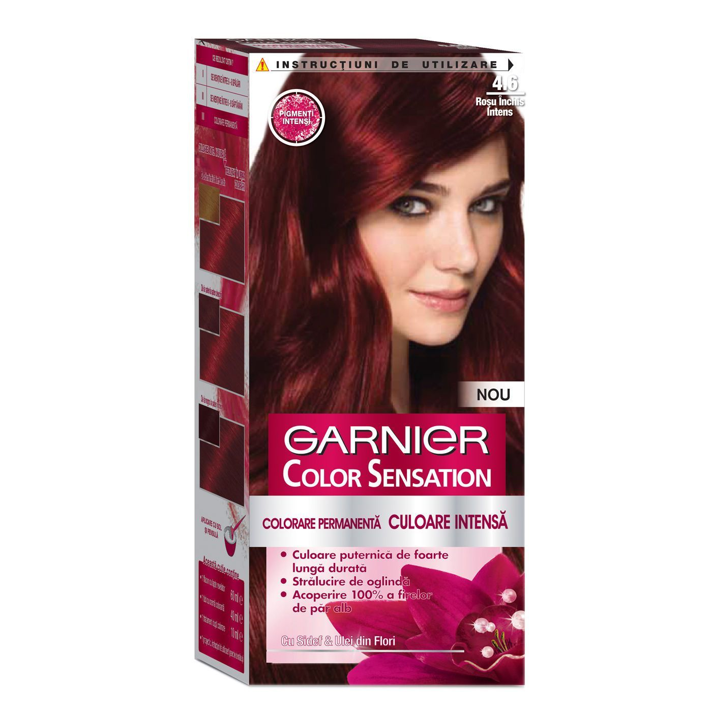 Garnier Color Sensation 4 60 Intense Dark Red Hair Dye Permanent Cream Color Dyed Red Hair Dark Red Hair Dye Dyed Hair