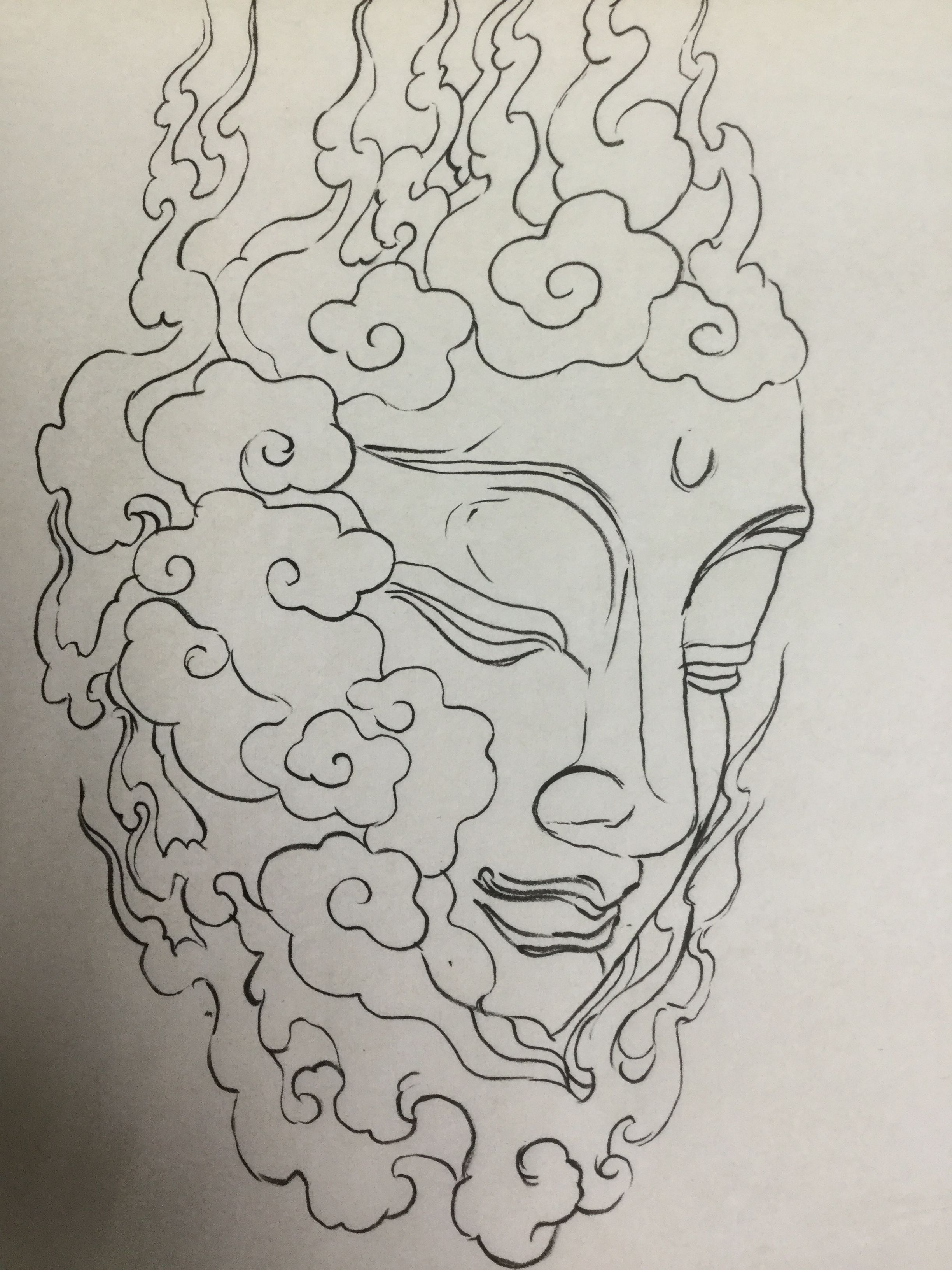 Linework With Images Japanese Tattoo Art Buddha Tattoo Design