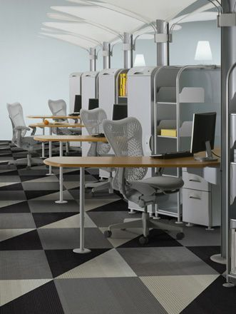 Liking this #carpet tile pattern for an open office space we ...