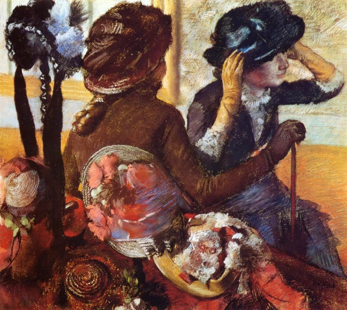 At the Milliner's 1882 ~ Edgar Degas ~ (French: 1834-1917)