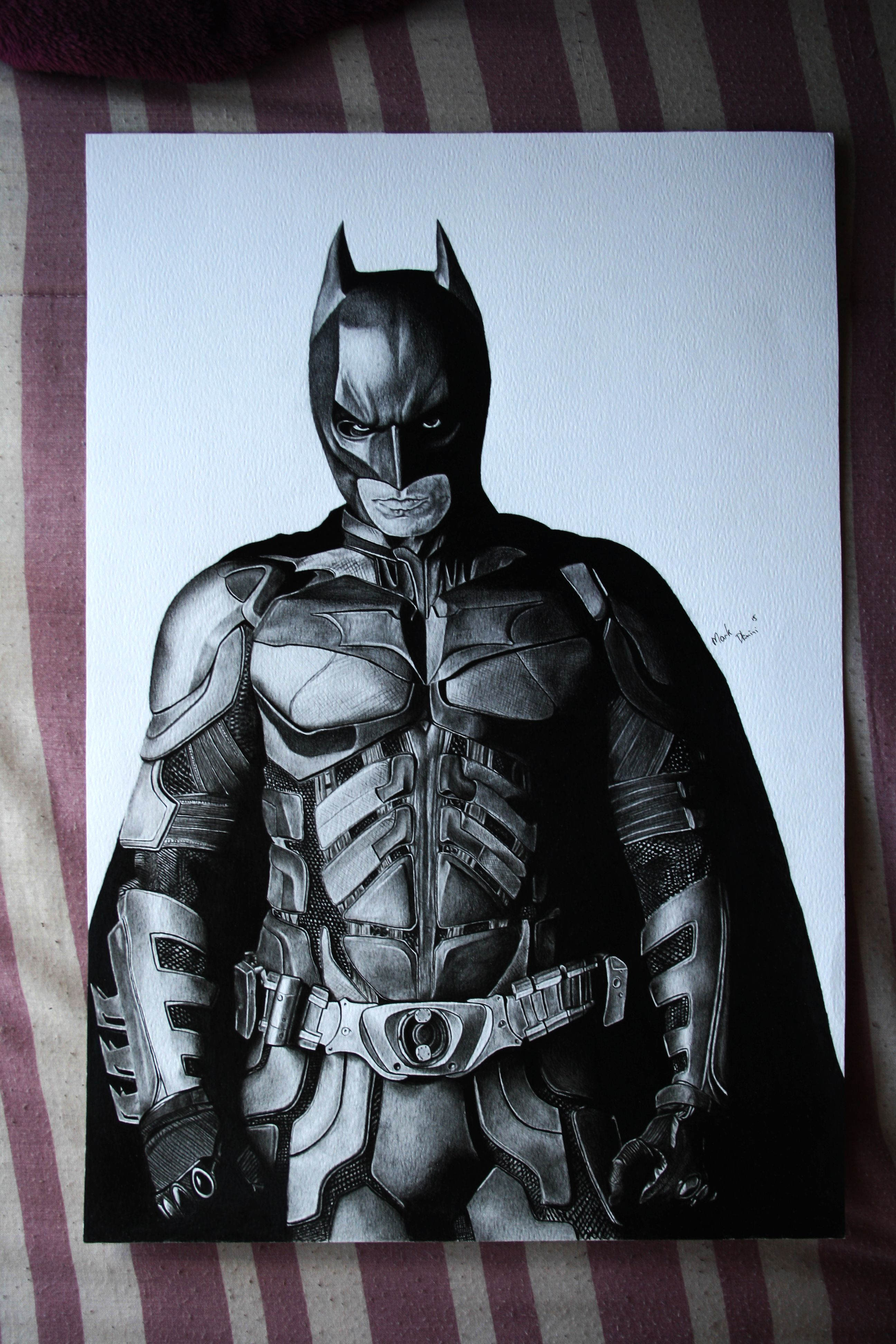 Graphite portraits superhero batman pencil drawings fictional characters art