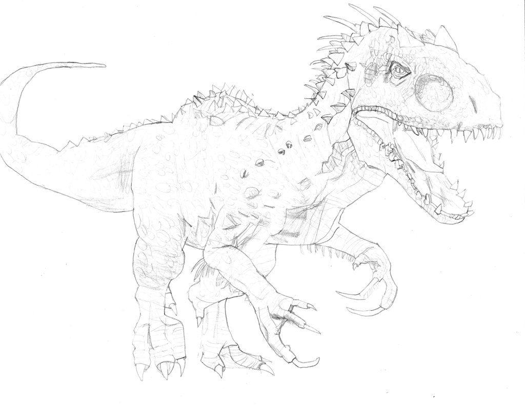 ausmalbilder indominus rex bilder zum ausdrucken