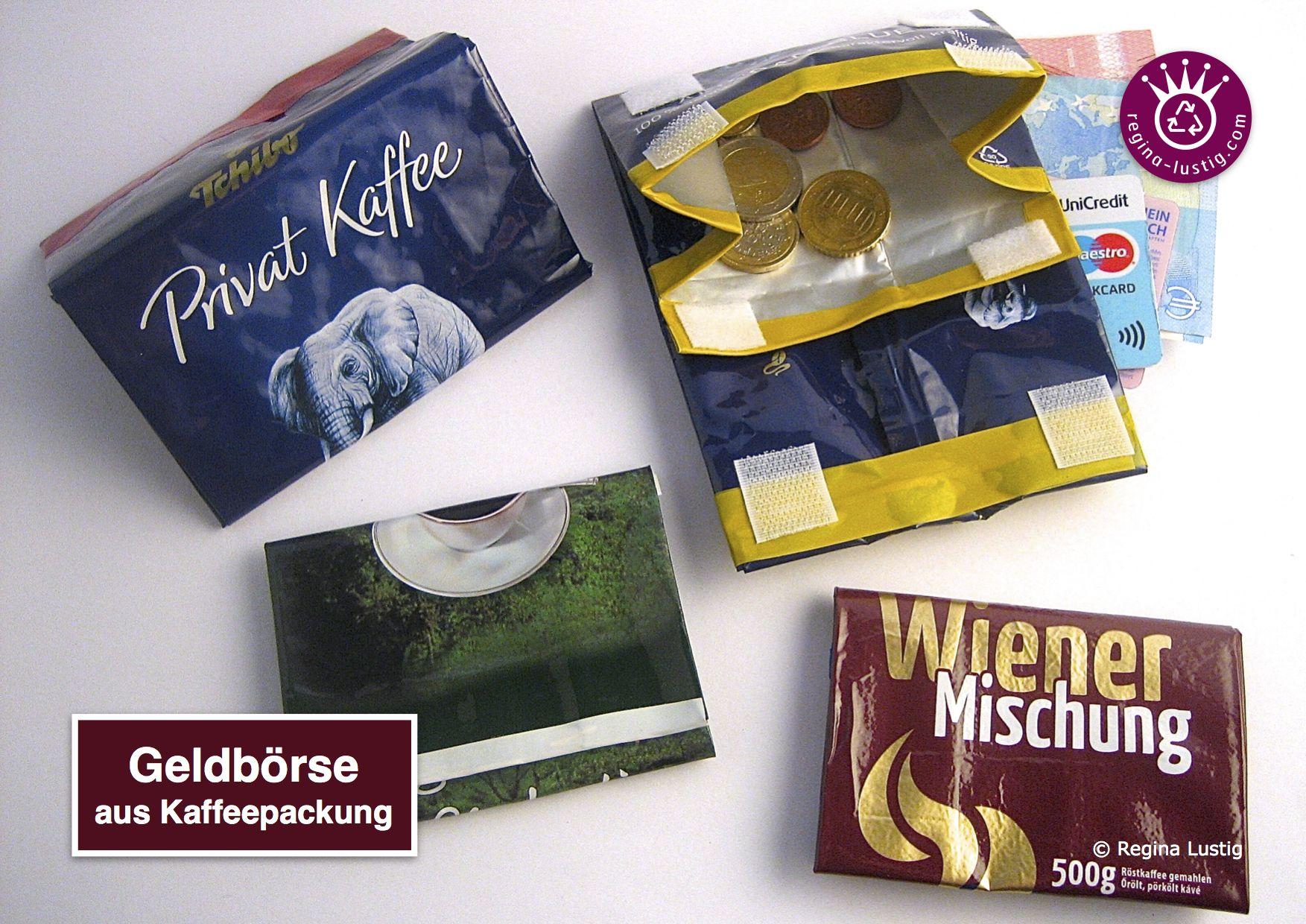 b76d246d51996 Anleitung Geldbörse aus Kaffeepackung