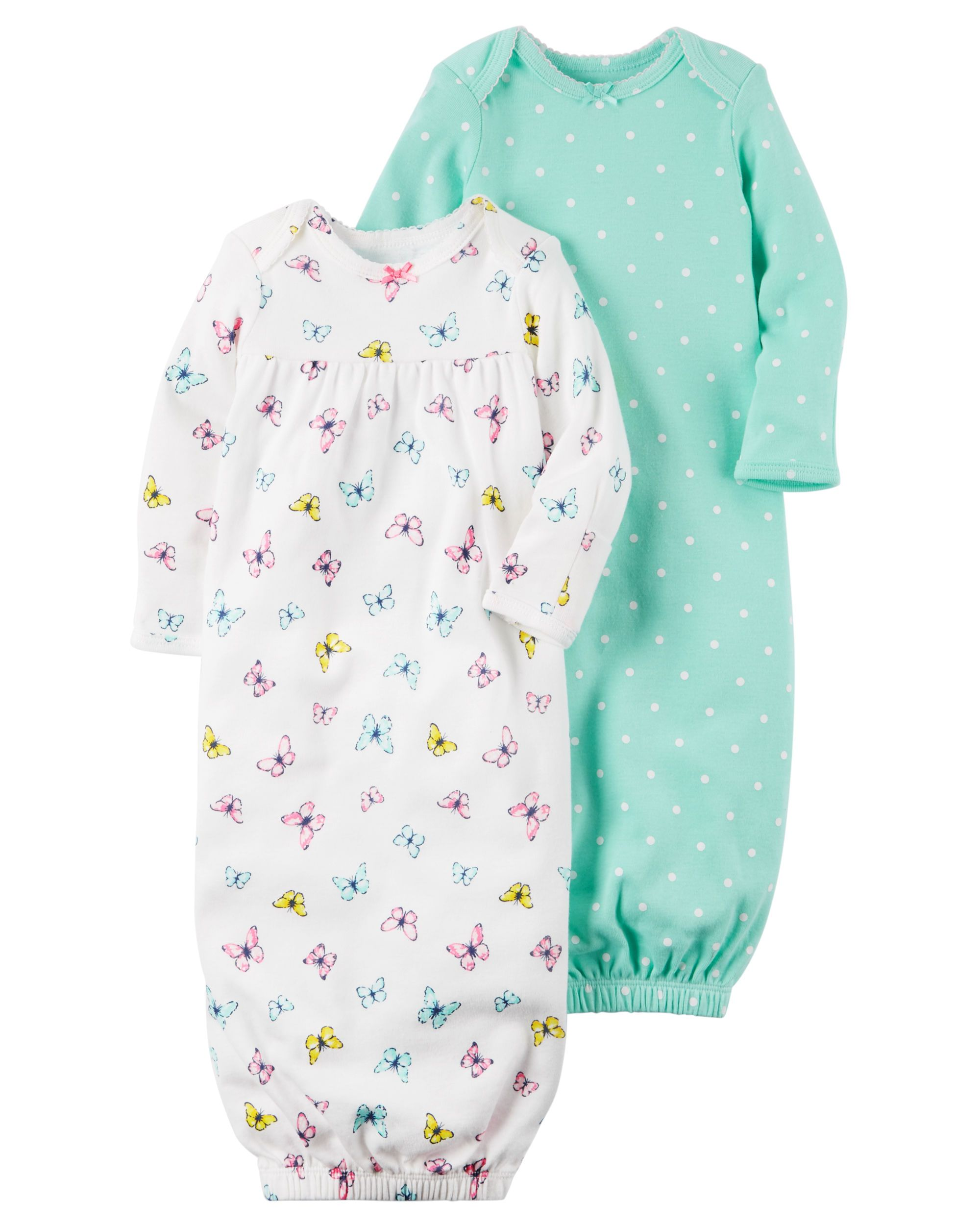 608bcc7033cb 2-Pack Babysoft Sleeper Gowns | Baby Judy (Grace) | Carters baby ...