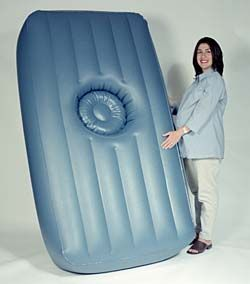 Maternity Air Bed. Are you kidding me? I could have so used this!