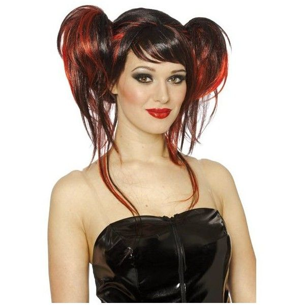 Devil Do Wig Adult 17 Liked On Polyvore Featuring Costumes Halloween Costumes Multicolor Sexy Adult Costumes Black Red Hair Rock Hairstyles Punk Hair