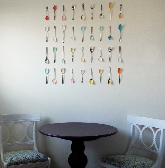 20 Crafty Kitchen Projects Painted Spoons Diy Kitchen Decor