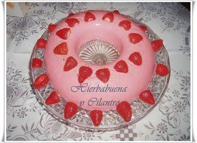 Hierbabuena y Cilantro: Puding de fresas