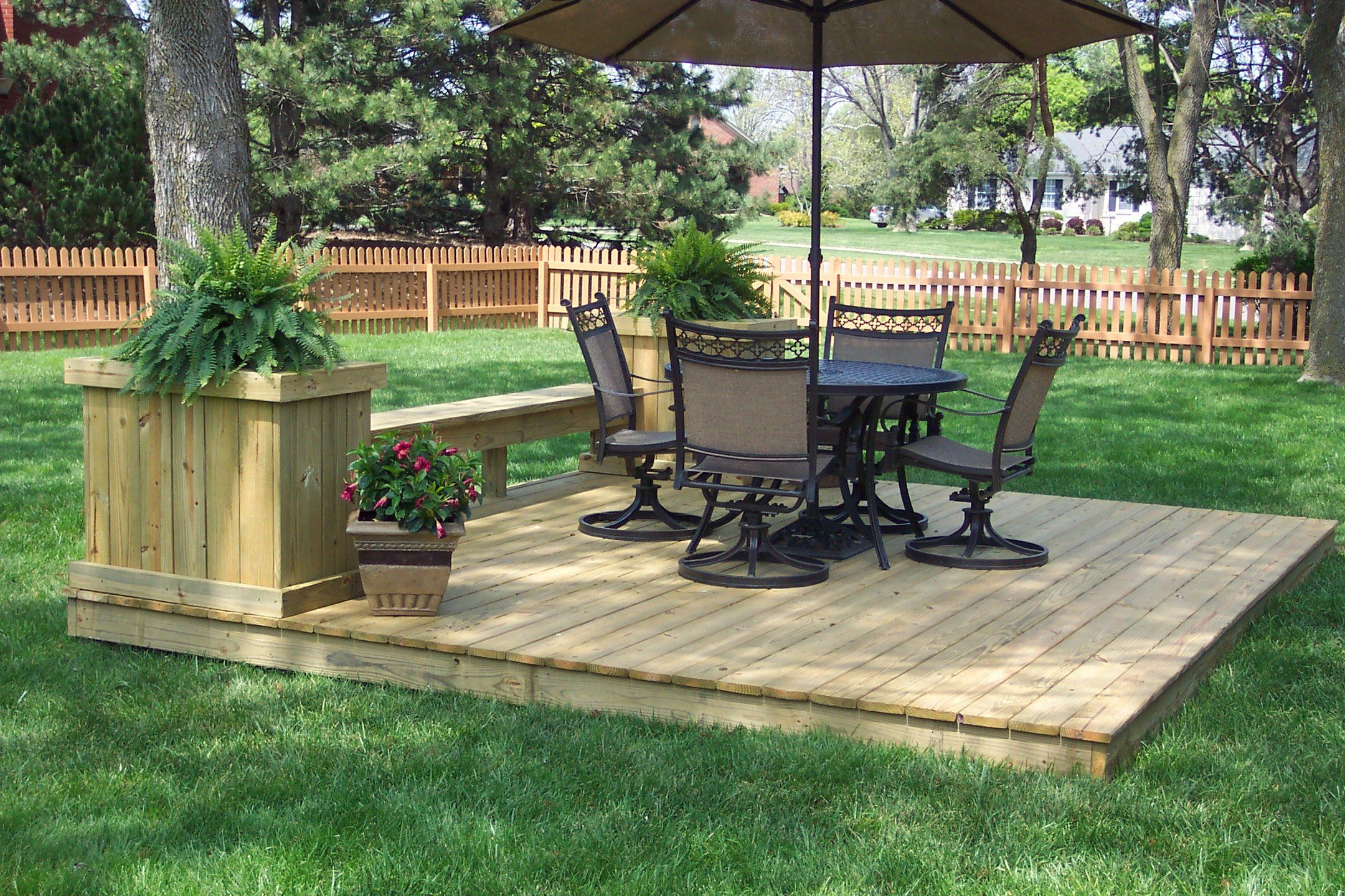 ground level deck plans #2: deck design | renovation inspirations