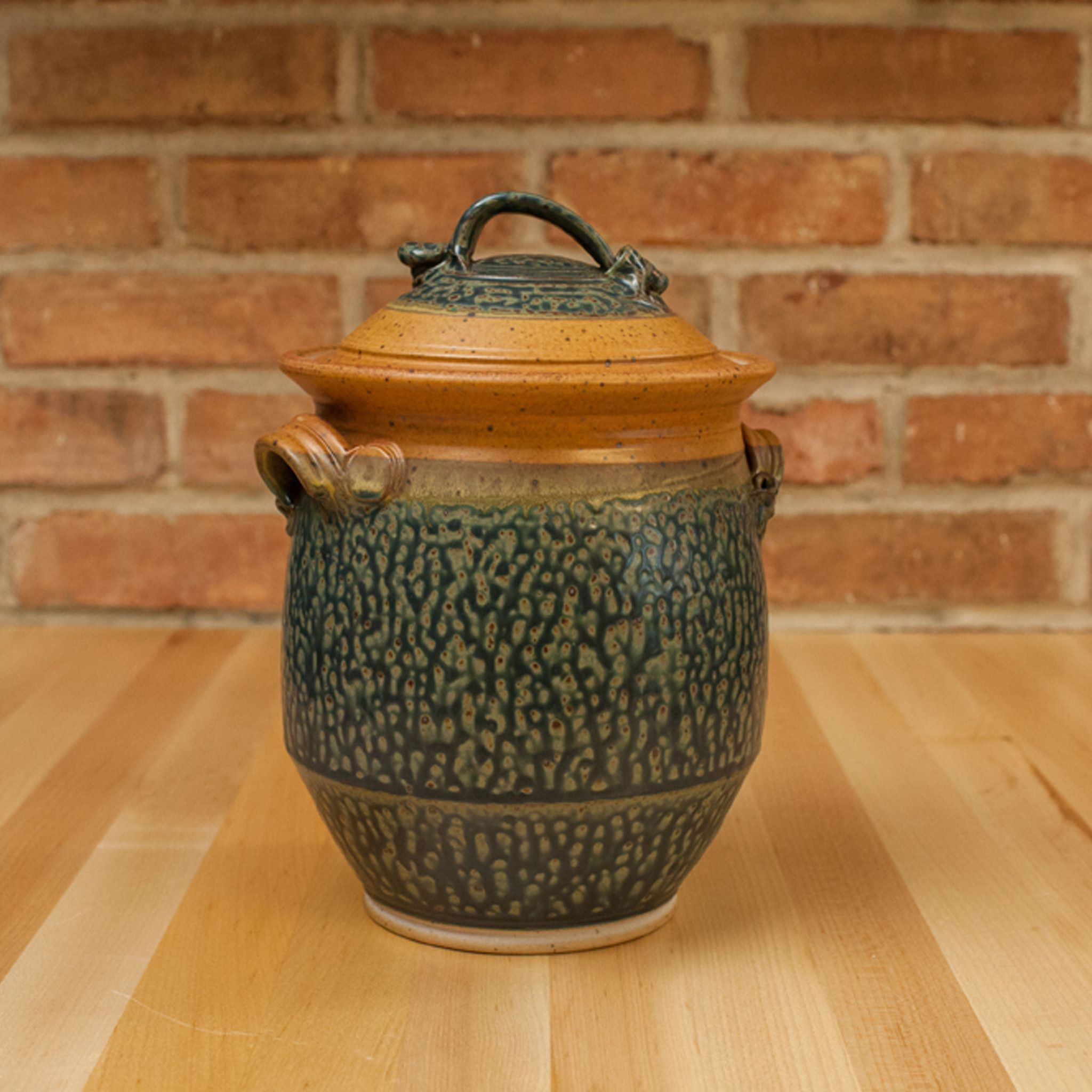 Ceramic Cookie Jar Sets Cookie Jar In Tan Ash Glaze Lidded Ceramics