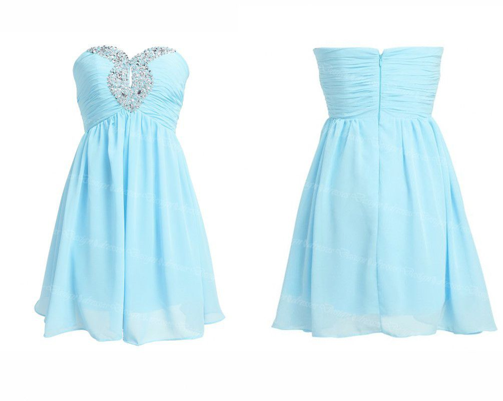 Light Blue Chiffon Prom / Homecoming Dress on Luulla | Elegant ...