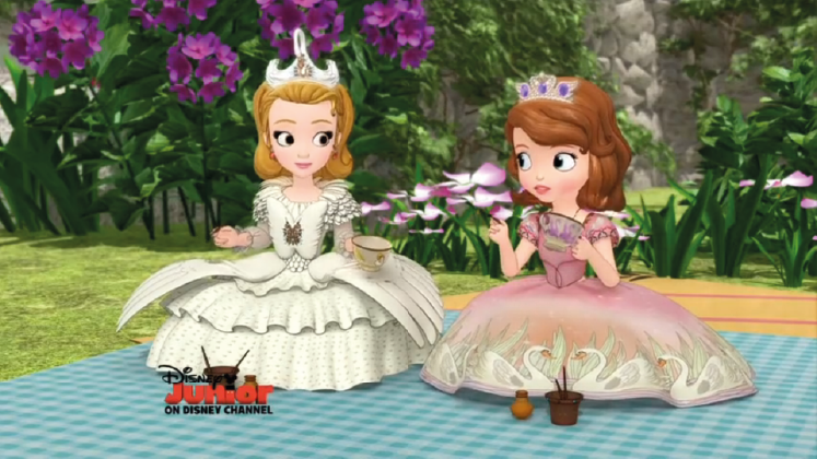 Sofia And Amber In Swan Dresses By Joshuaorro Sofia The First Cartoon Disney Princess Sofia Sofia The First Characters