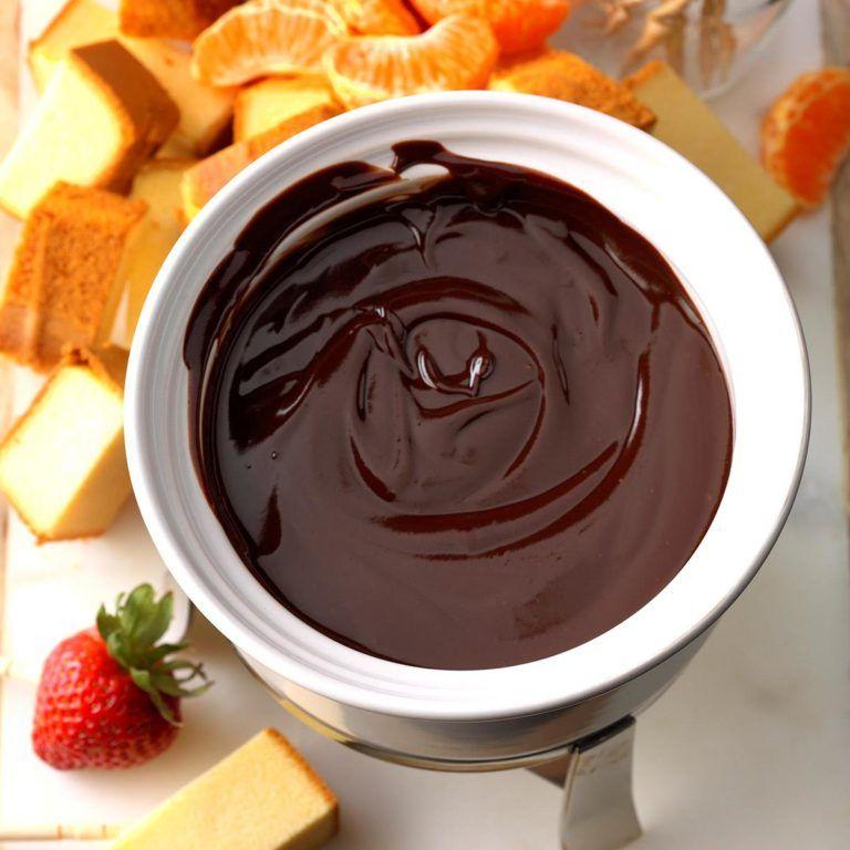Orange Chocolate Fondue #chocolatefonduerecipes