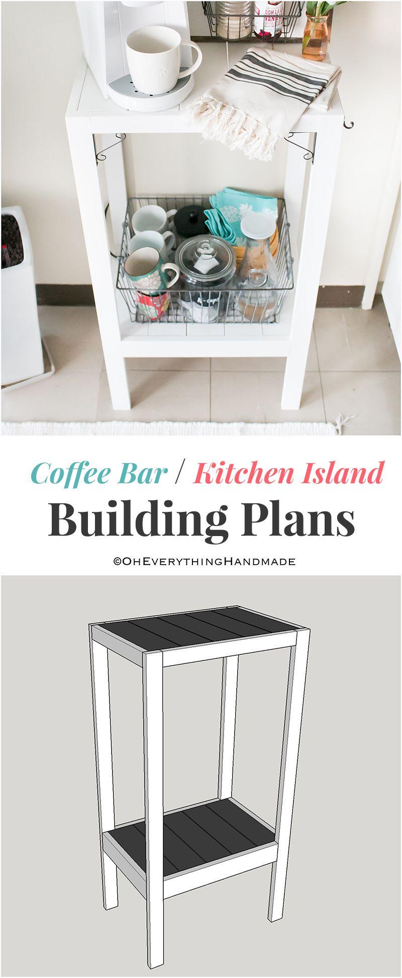 Coffee Bar or Kitchen Island Shelf
