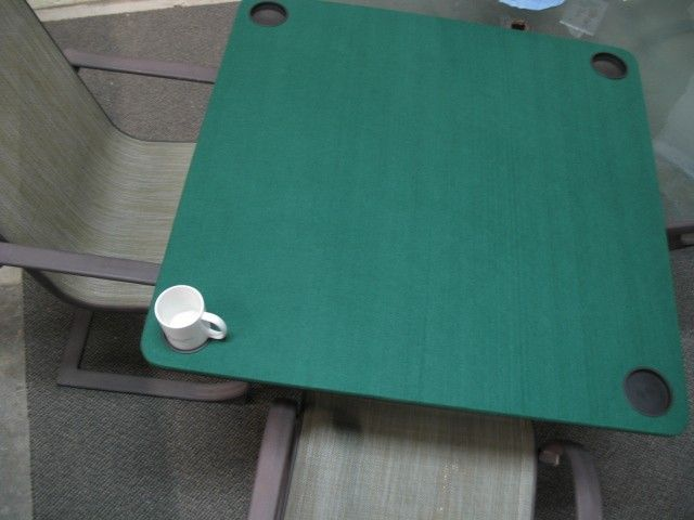 green top square xtender with cup holders card table extender