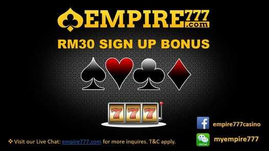 Malaysia Online Casino Free Sign Up credit RM30 at Empire777
