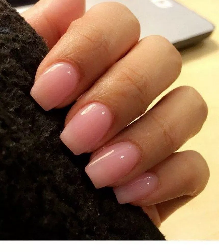 Acrylic Nails With White Shimmery Gel Shellac Over Top I Really Love The Coffin Shape White Acrylic Nails Acrylic Nails Prom Nails
