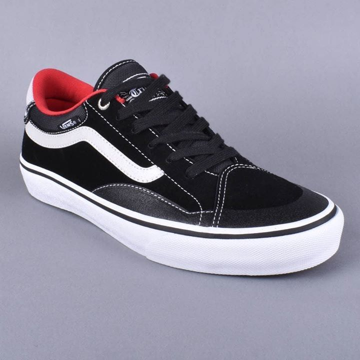97697824034325 Vans Shoes TNT Advanced Prototype Black White Red (4)