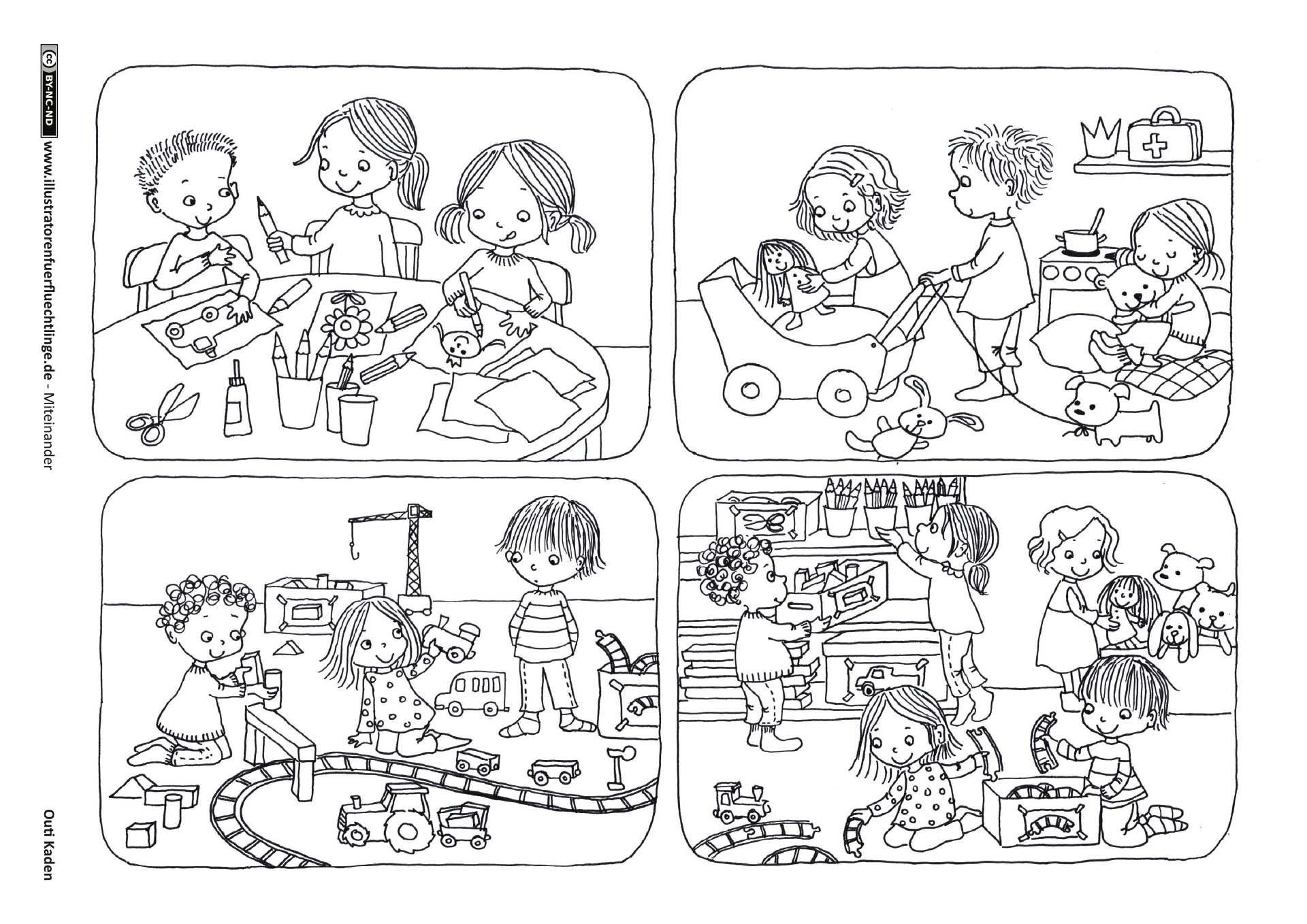 Spielzimmer Teilen Spielen Aufraumen Kiga Pinterest