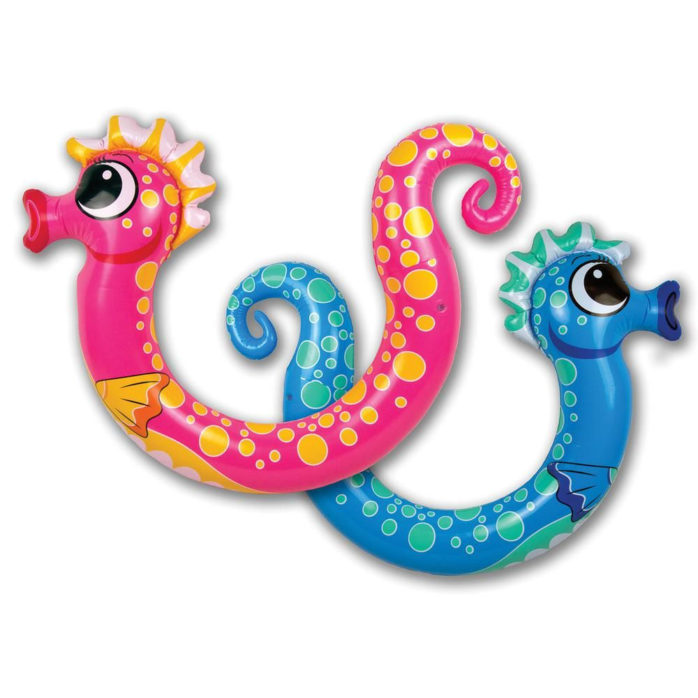 Poolmaster Seahorse Swimming Pool Float Noodle 2 Pack Assorted Swimming Pool Noodles Swimming Pool Toys Pool Floats