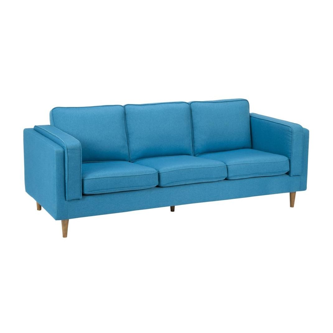 Best Bright Blue Upholstery Gives This Mid Century Styled Sofa 400 x 300