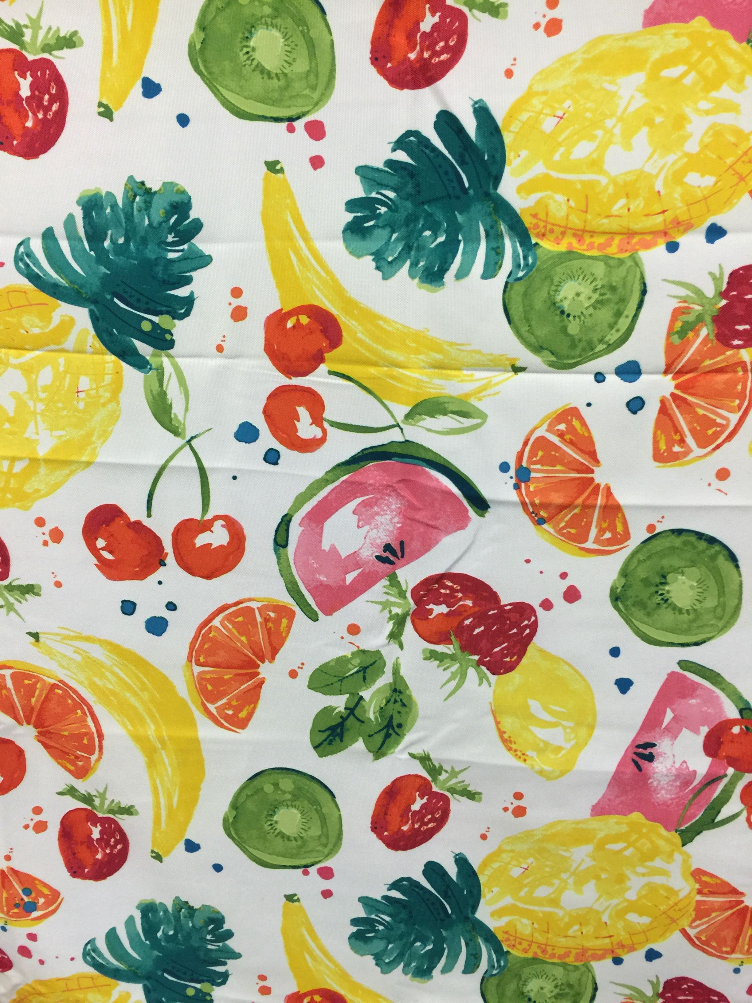 Watercolor Fruit Tablecloth From Hobby Lobby Watercolor Fruit