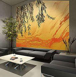 top poster mural style asiatique avec saule ref sur papier peint ou toile murale grand format pour dcoration with poster mural zen - Poster Mural Grand Format