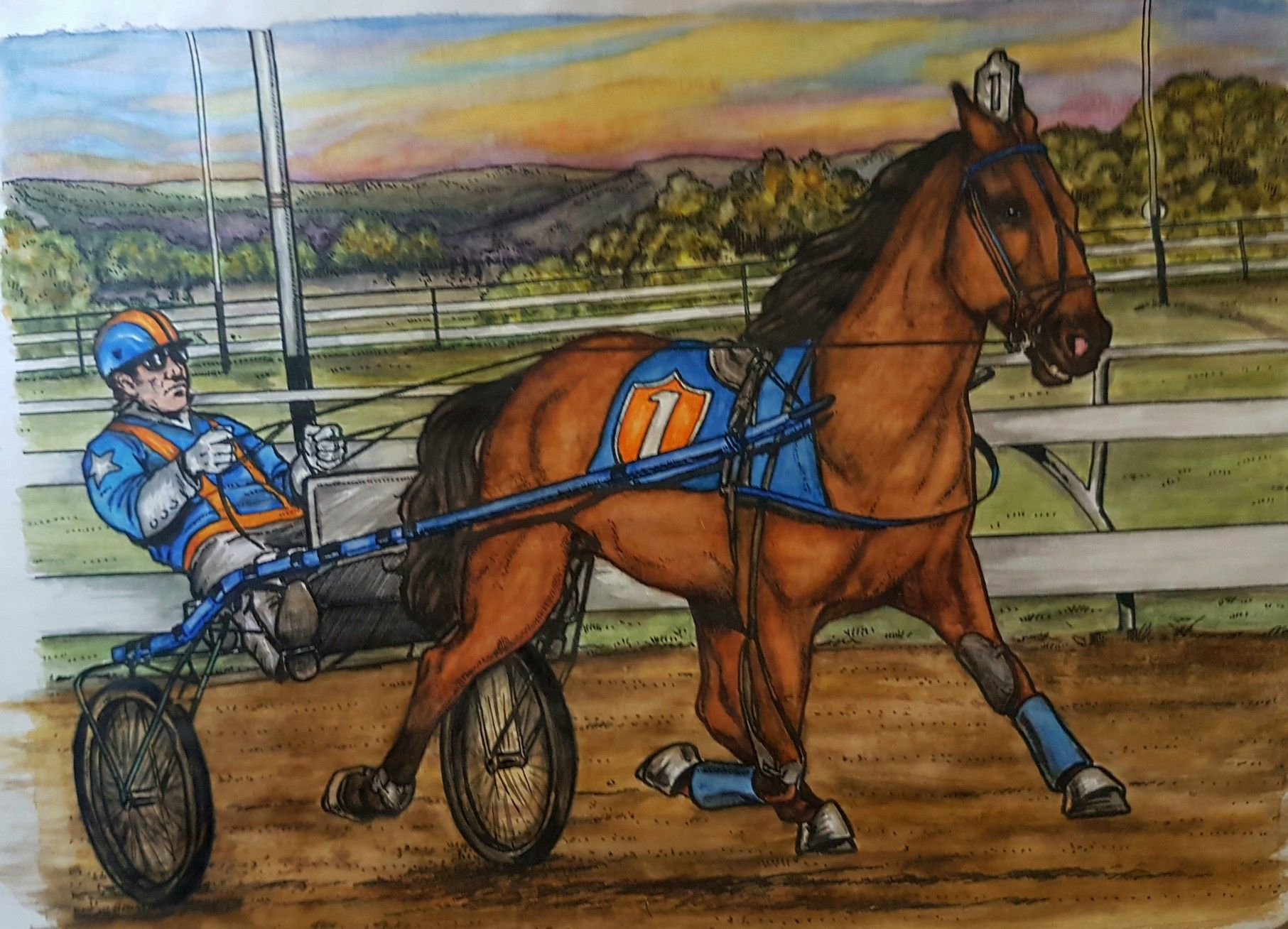 Harness Racing Coloring Pages Data Wiring U2022 Rh Kshjgn Pw Clip Art