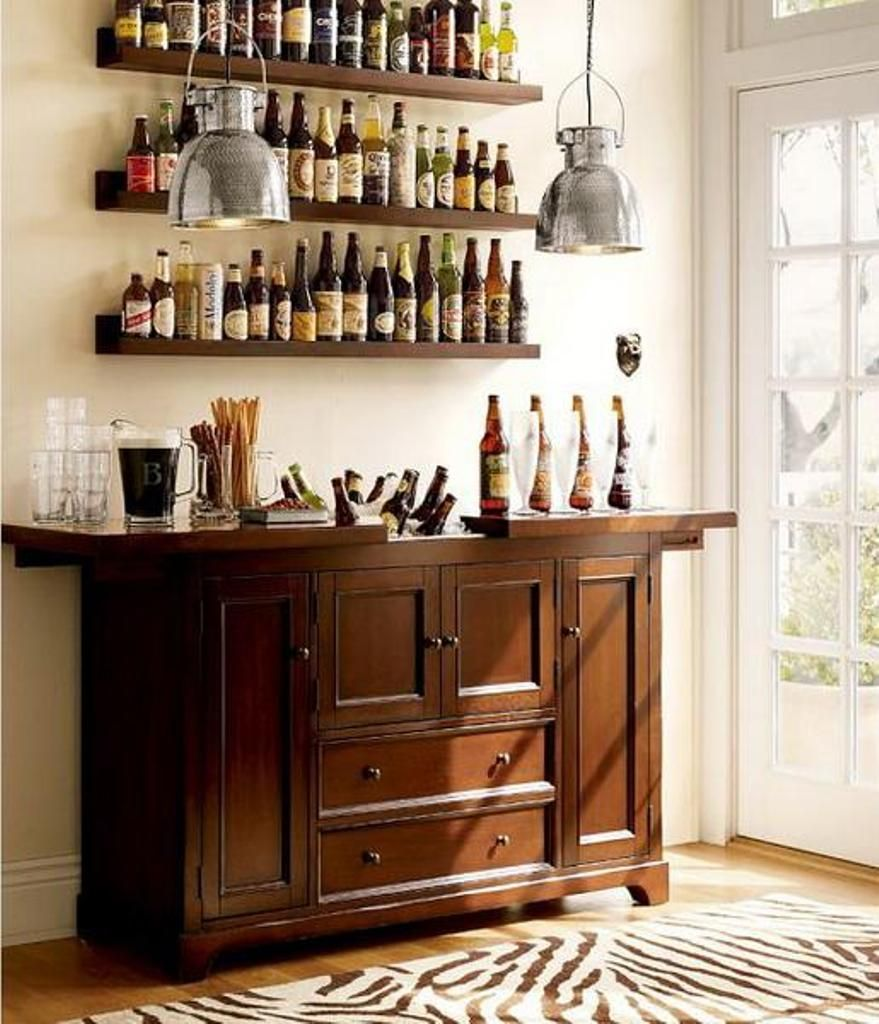 Small Mini Bar Design With Rustic Wooden Cabinet Small Bars For Home Bars For Home Bar Furniture