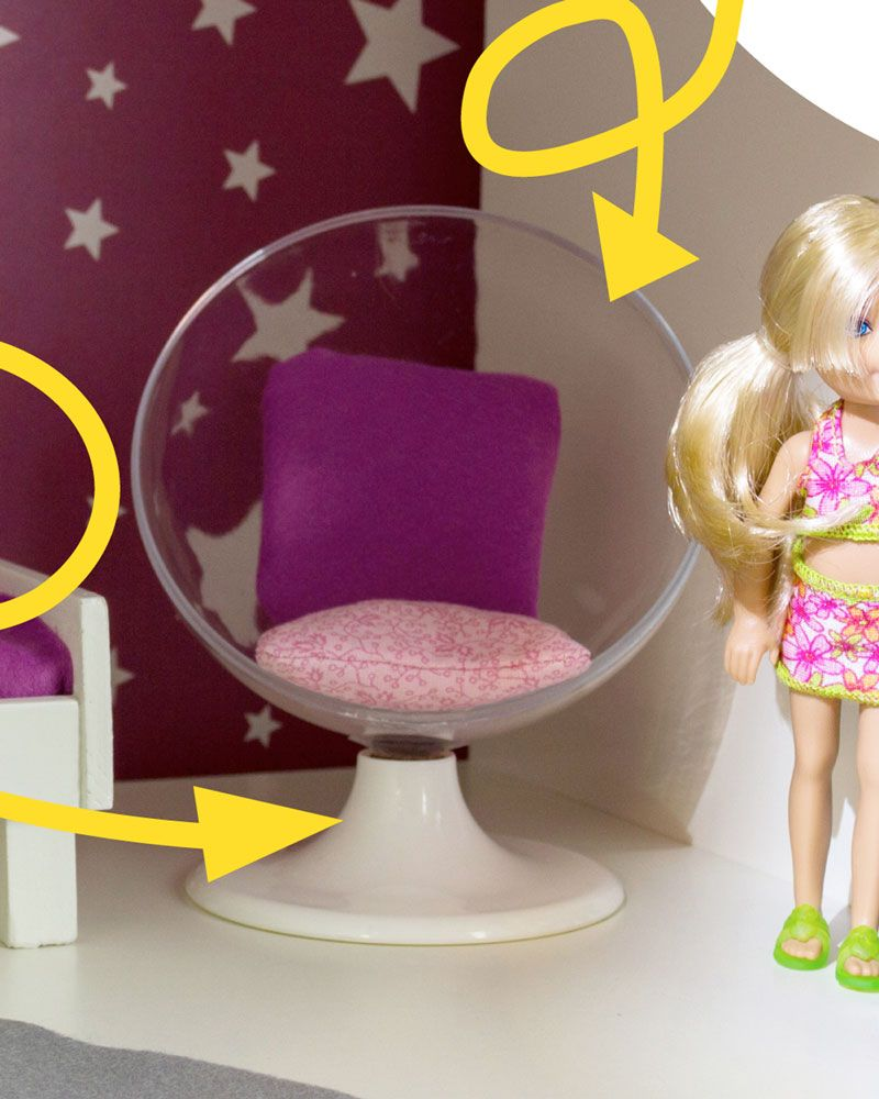 Barbie Möbel selber bauen 70iger Jahre Sessel - Ausschnitt. www.limmaland.com