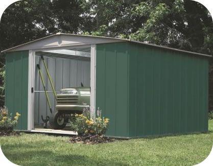 Arrow 10x10 Green Dresden Metal Storage Shed Kit Storage Shed Kits Shed Storage Garden Shed Kits