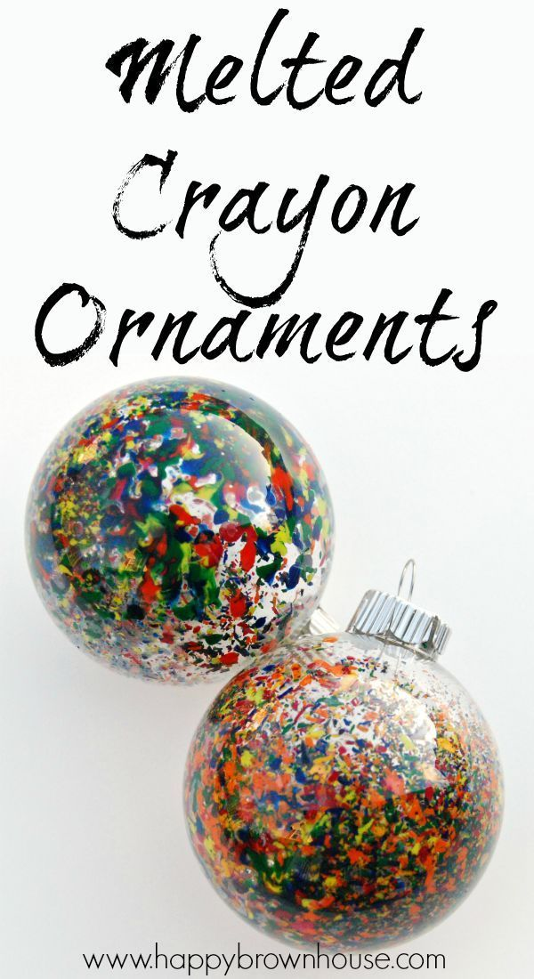 Melted Crayon Christmas Ornaments #christmascraftsforkidstomake