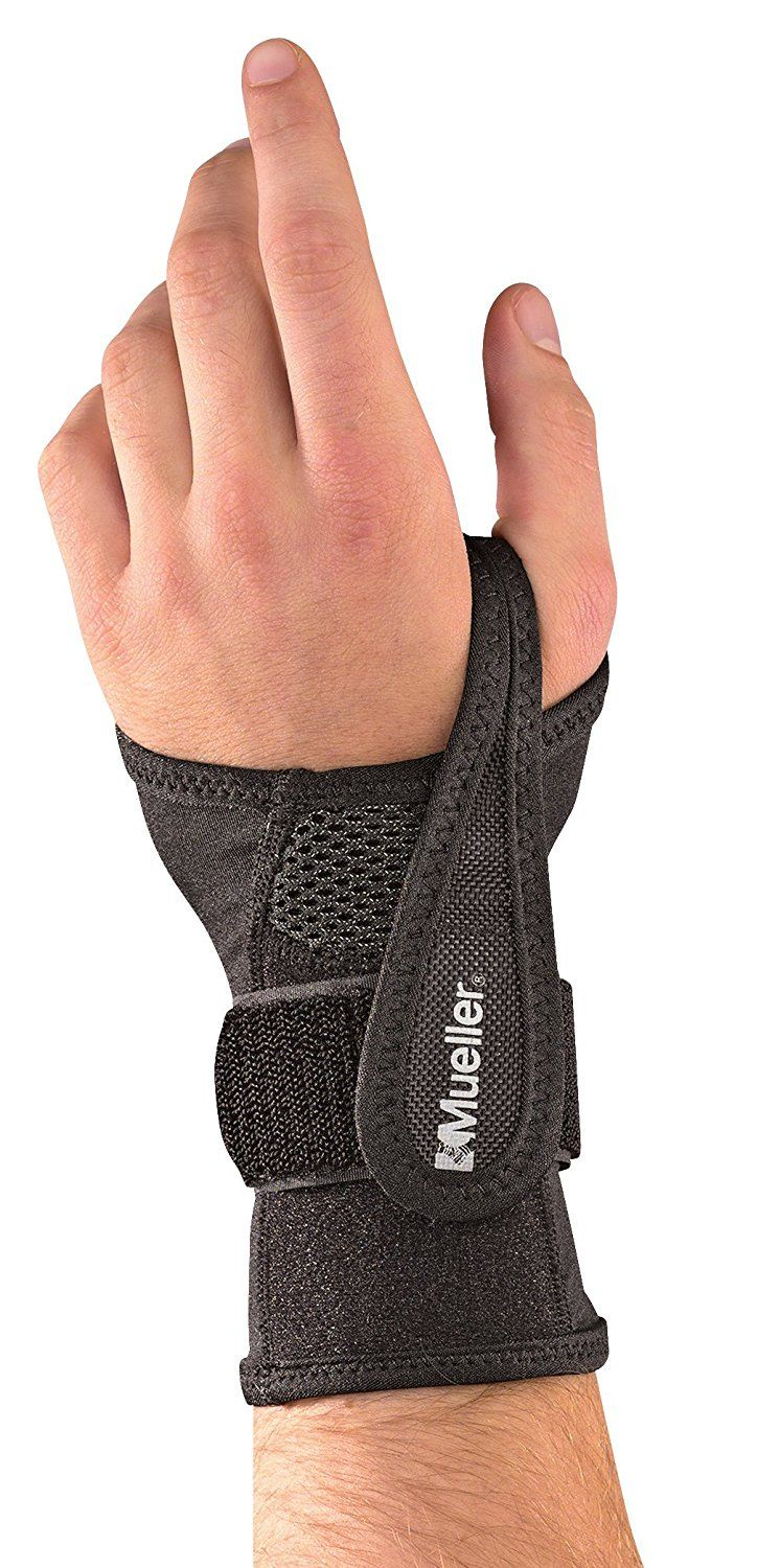 Mueller Sports Medicine Adjustable Wrist Brace, Black