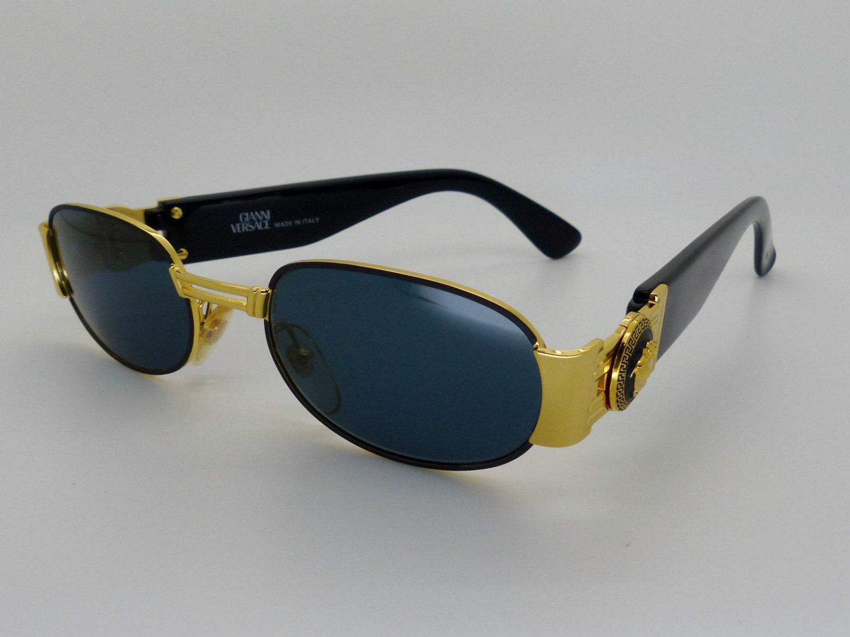 ca6a4edb724 Genuine Rare Vintage Gianni Versace Medusa Sunglasses Mod S70 Col 09M by  VSOx on Etsy