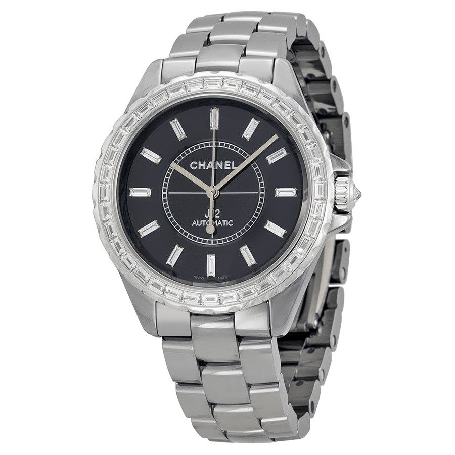 J12 Automatic Black Dial Grey Titanium Ceramic Unisex Watch Product Details Product SKU : W-H3155 Thickness: 12 Mm Diameter: 41 Mm Color: Black Features Bezel:
