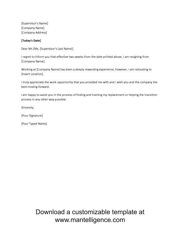 Pin by Joko on Business Templates Pinterest Resignation letter