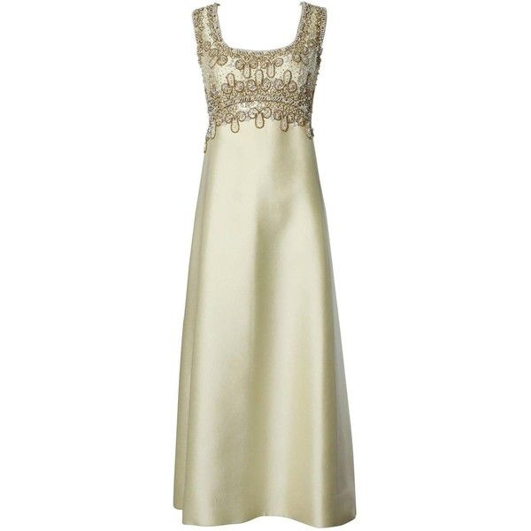 Preowned 1960S Beaded Silk Shantung Evening Gown ($650) ❤ liked on ...