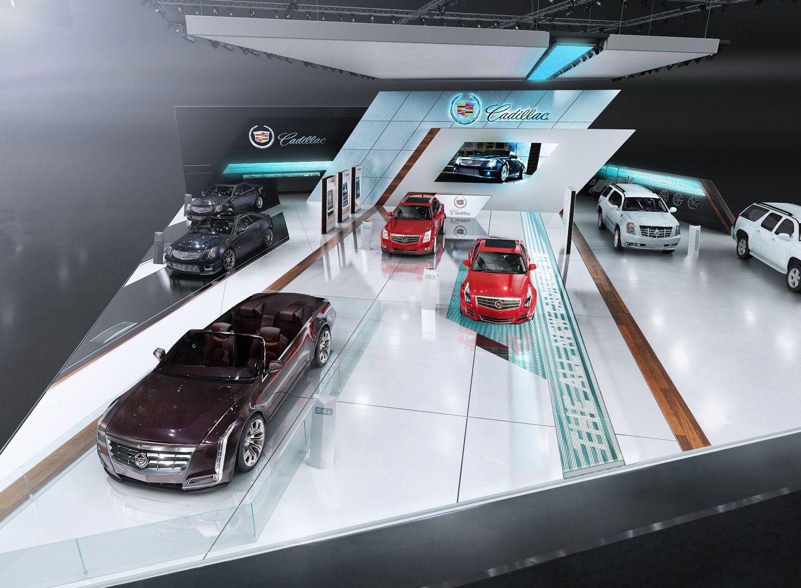 Car Exhibition Stand Design : Cadillac Дизайн выставочных стендов фри лансер Игорь