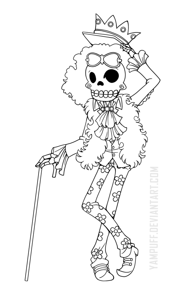 Brook ::One Piece Lineart Commission: by YamPuff | Digis | Pinterest