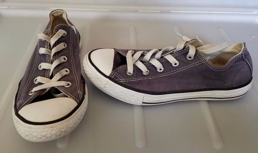 005fc29a4b5f62 CONVERSE All Star Youth size 3 Grey sneaker tennis shoes low top  Converse   Athletic