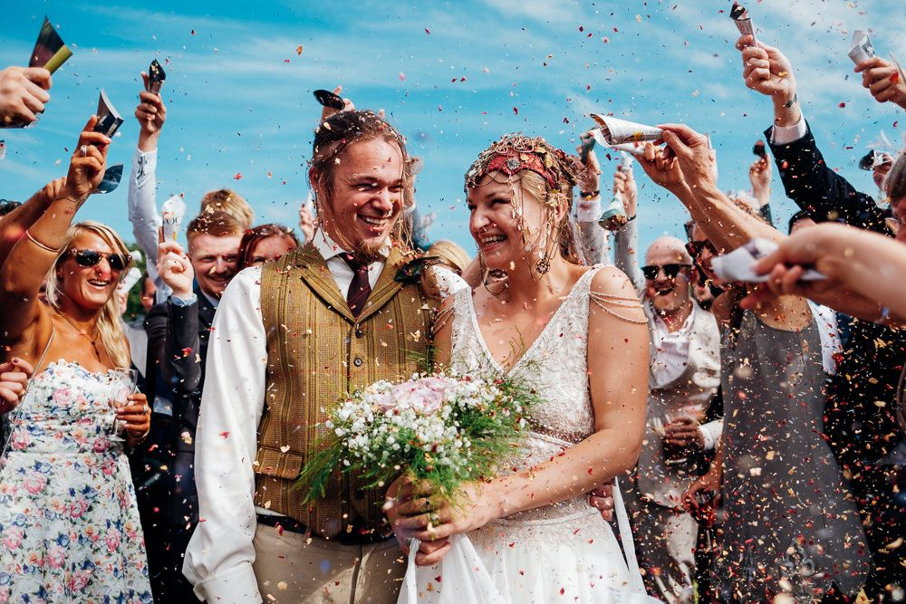Bohemian Medieval Wedding with Archery & Snail Racing!