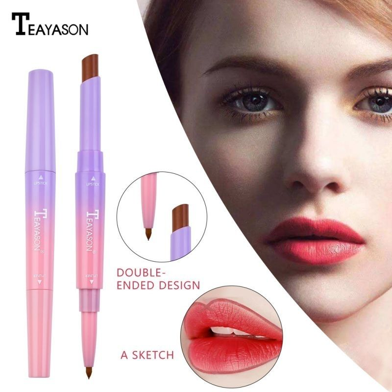 Double-end Lipstick Liner Long-lasting Waterproof Non-stick Cup Moisturizing