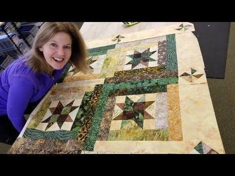 Part 2 Pin Wheel Border Starry Log Cabin Quilt From A Jelly Roll Youtube Quilts History Of Quilting Quilt Boarders