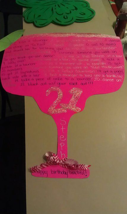 the 21st birthday sign i made for @Stephanie Close Murillo #21stbirthdaysigns