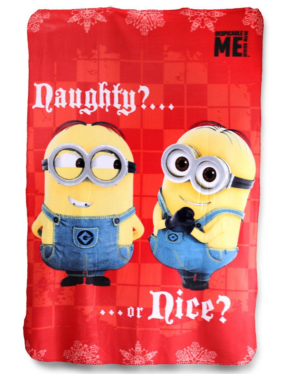 Despicable Me Minions Naughty or Nice Fleece Blanket By BestTrend ...