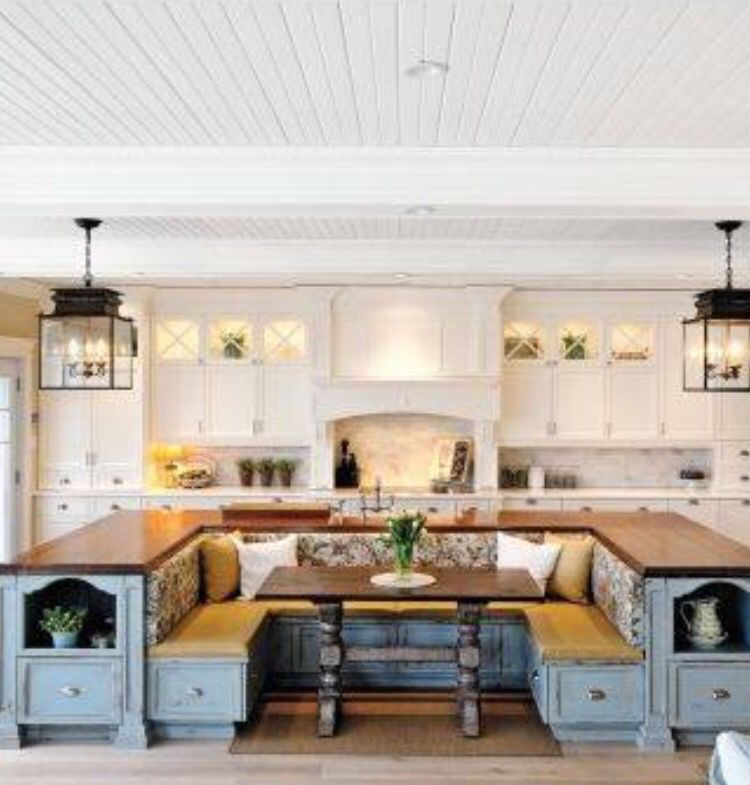 Love This Built In Kitchen Island/table Nook
