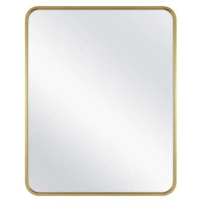 Home Decorators Collection Medium Rectangle Gold Modern Mirror With Deep Set Frame And Rounded Corners 32 In H X 24 In W Mr30293 Hd The Home Depot Modern Mirror Home Decorators Collection Modern