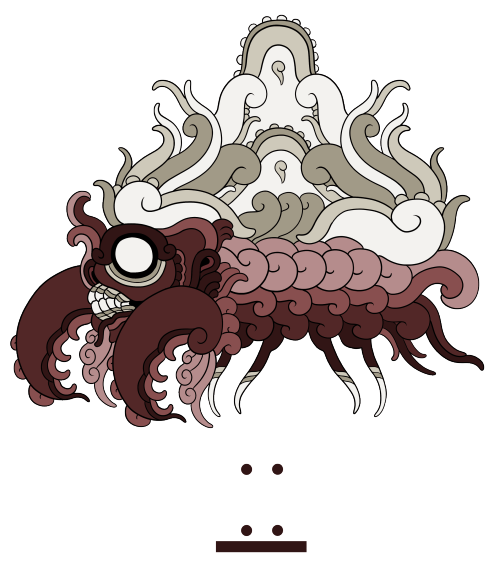 """ik'el kuuxum maya parasectGoing back to my roots of """"big scary maya redesign"""", I clung to the idea of the mushroom parasite invading the bug type."""