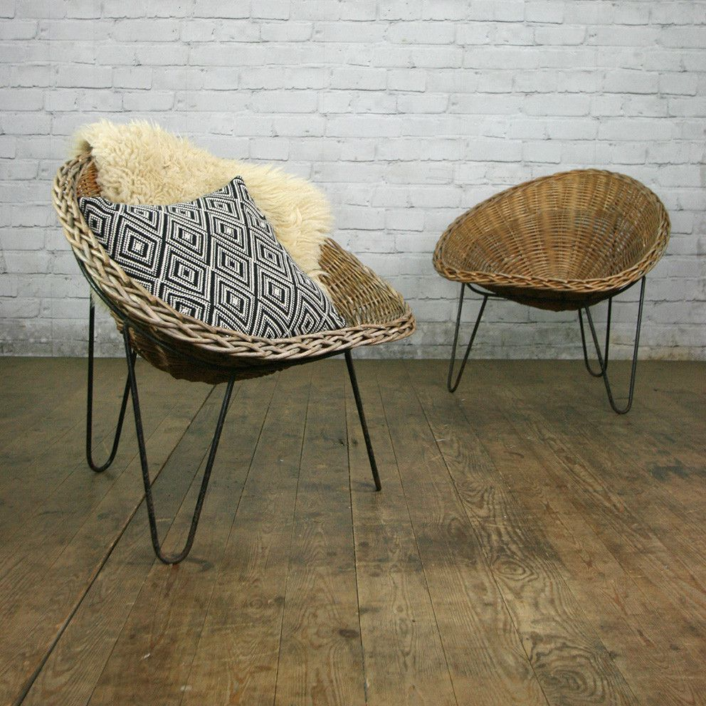 Delightful A Mid Century Rattan Wicker Tub Chair With Iconic Hairpin Leg Base,  Designed By Terence Conran In The 1950u0027s. At The Time Of Listing We Had  Four Of These In ...